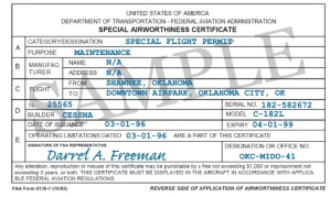 Special Flight Permit